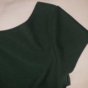 Emerald Green Dress Short-Sleeve Dress S